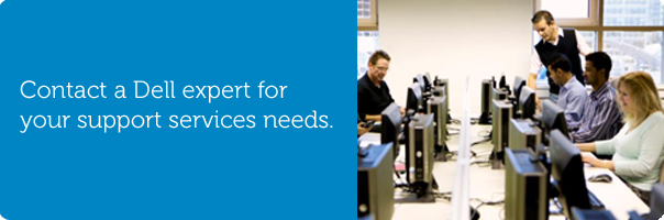 Contact a Dell expert for your support services needs.