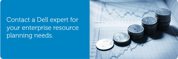 Contact a Dell expert for your enterprise resource planning needs.