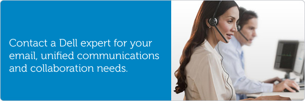 Contact a Dell expert for your unified communications needs.