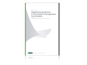 Should Your Email Live in the Cloud? A Comparative Cost Analysis